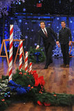 Tom Cruise watched Jimmy Fallon toss a wreath.