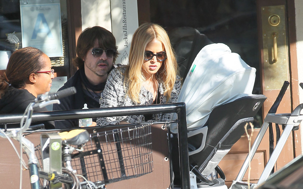 Rachel Zoe and Rodger Berman doted on Skyler during lunch.