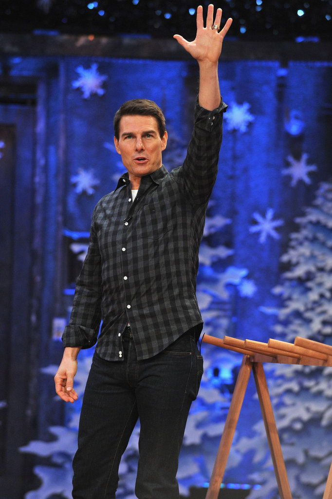 Tom Cruise gave an air high five.
