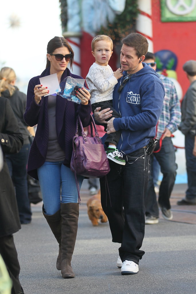Mark Wahlberg carried son Brendan.