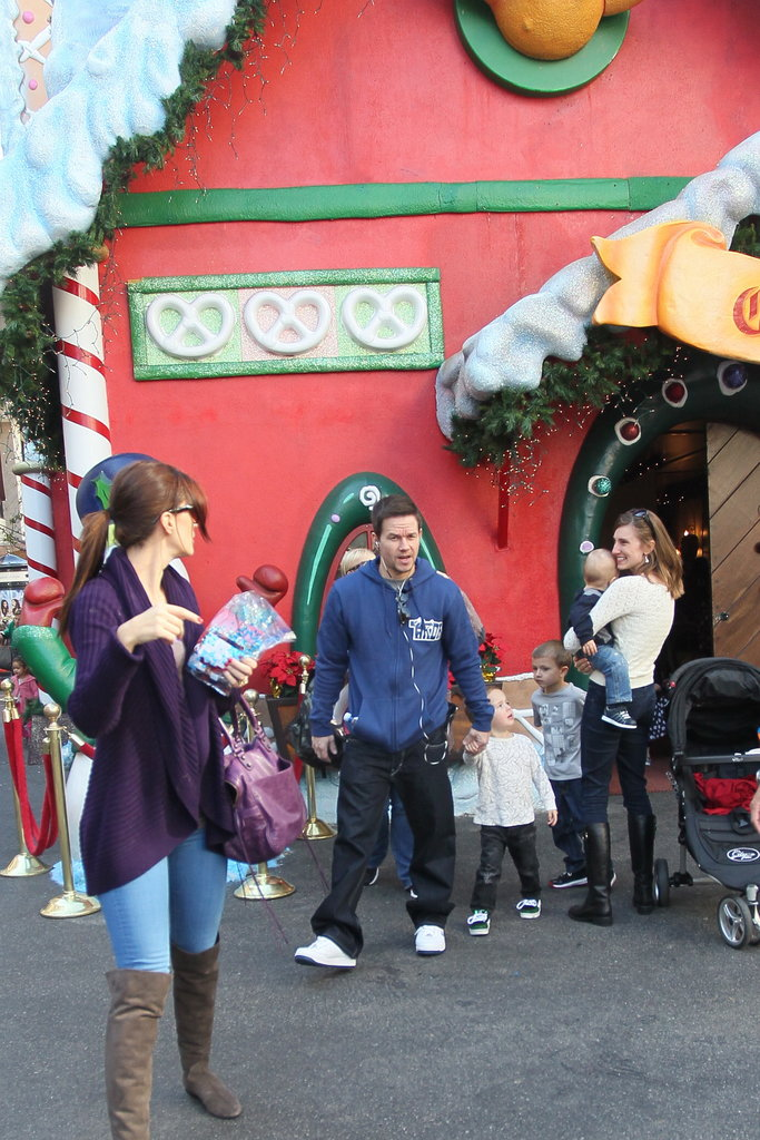 Mark Wahlberg and Rhea Durham took their kids to meet Santa.