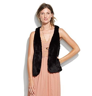 An easy layer to add on for just a hint of drama. Madewell Furry Festival Vest