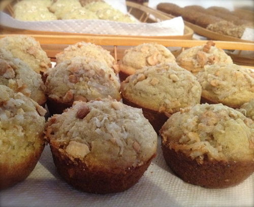 Coconut Muffins with Cashew Crumble