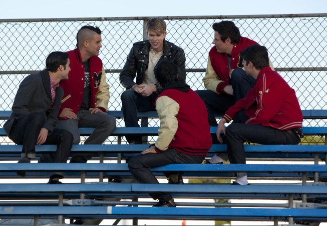 Guess Finn got back his Letterman jacket after he hocked it for Rachel's holiday gift.  Photo courtesy of Fox