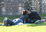 Mark Wahlberg and Rhea Durham kissing.
