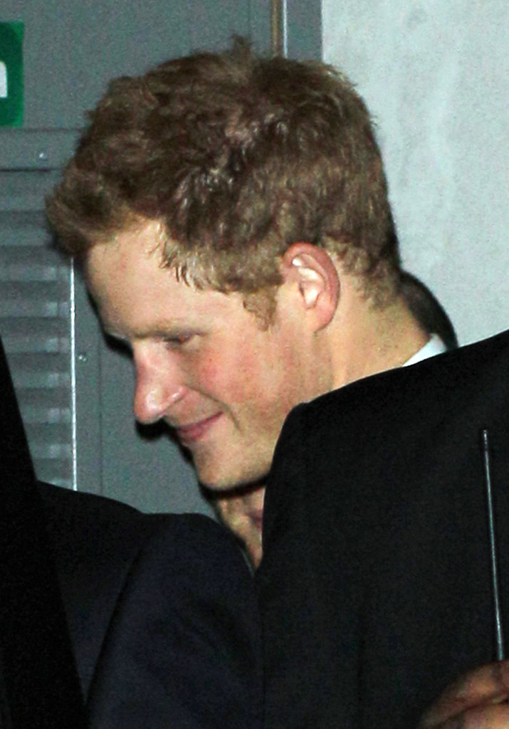 Prince Harry couldn't stop smiling in London.
