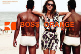 Alessandra Ambrosio looks beautiful and beachy in the new Boss Orange Spring 2012 ad. Source: Fashion Gone Rogue