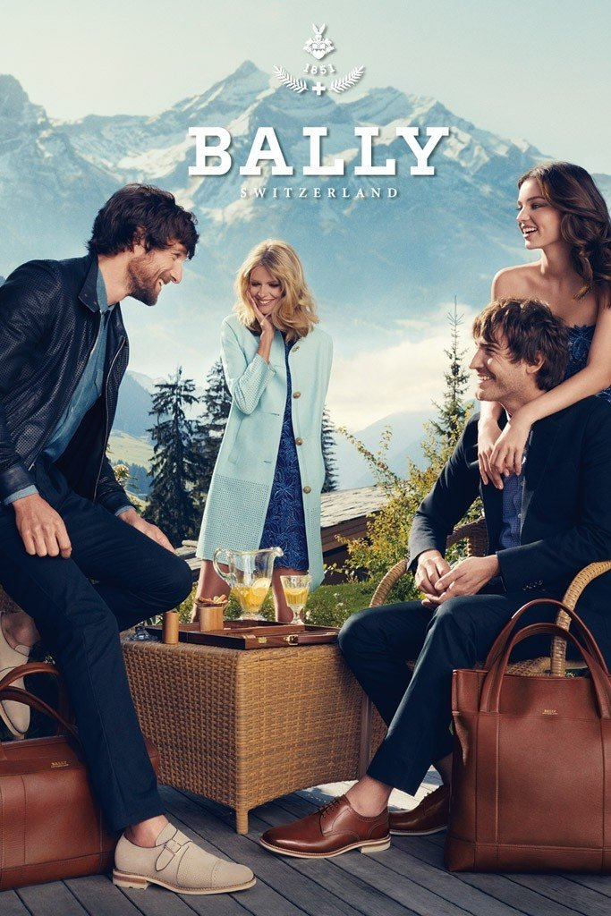 Miranda Kerr and Julie Stegner look pretty in blues in the Bally Spring 2012 ads. Source: Fashion Gone Rogue