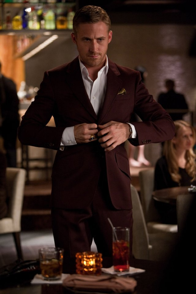 Ryan was dressed to sexy perfection throughout Crazy, Stupid, Love.