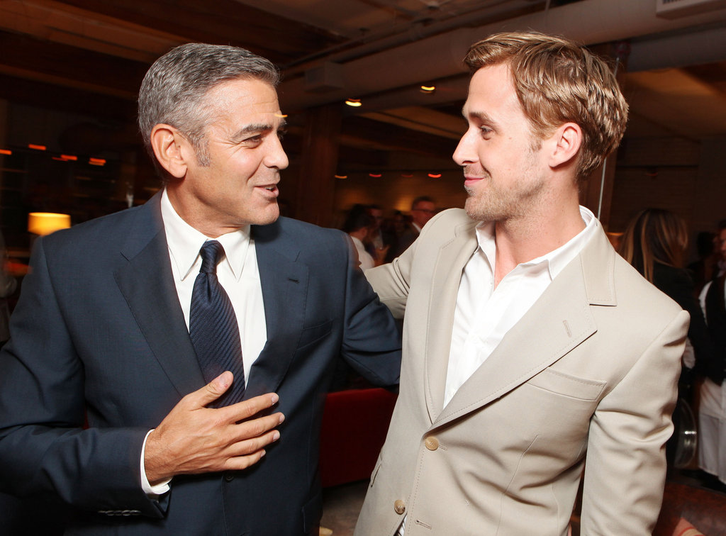 Ryan is so bromantic! Here he is with his The Ides of March costar George Clooney at the Toronto Film Festival.