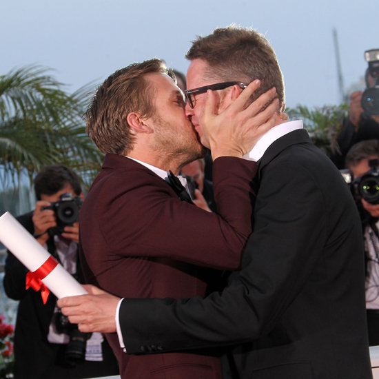 Ryan couldn't contain himself when his Drive director Nicolas Winding Refn won the best director award at the Cannes Film Festival in May. This has to be one of our fave Ryan Gosling kisses.
