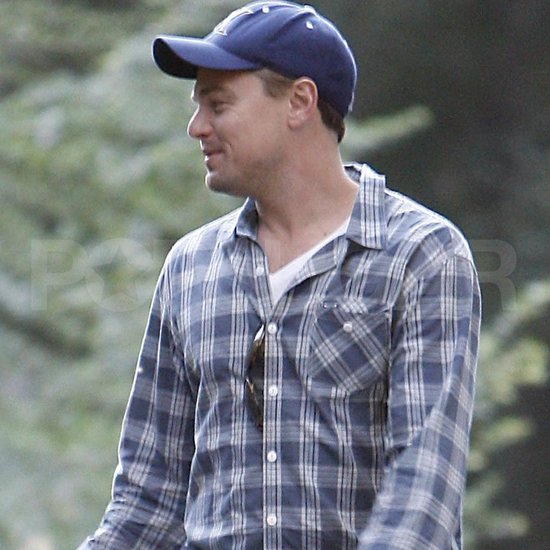 Leonardo DiCaprio was happy in LA.