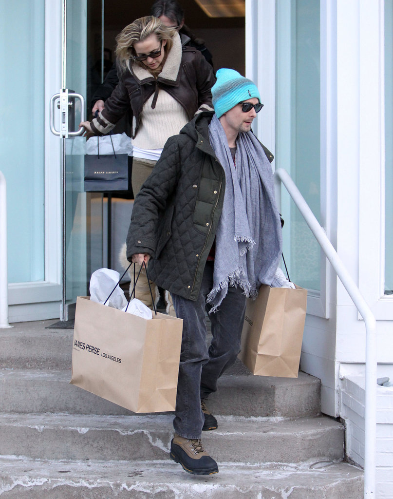 Kate Hudson and Matthew Bellamy Arrive Just in Time For Christmas in Aspen