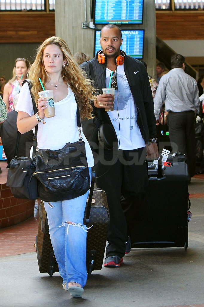 Cacee Cobb and Donald Faison arrived in Maui together.