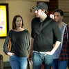 Emily Blunt, John Krasinski, &amp; Jimmy Kimmel at LAX Pictures