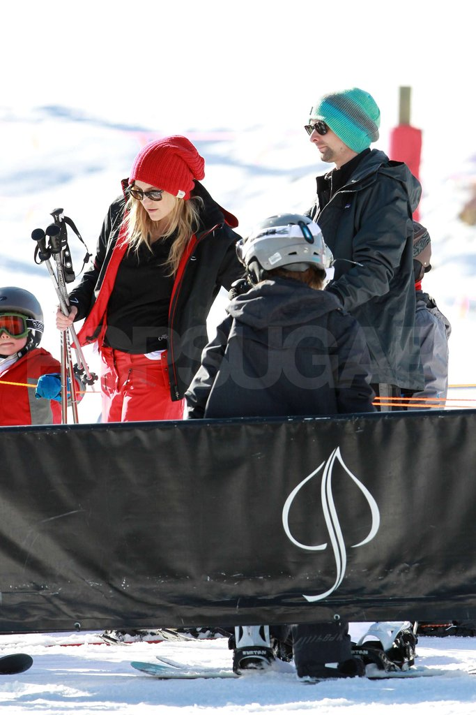 Kate Hudson and Matthew Bellamy Show Ryder the Slopes