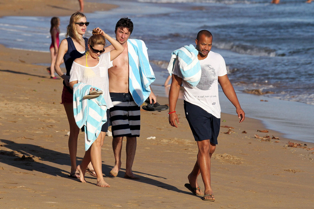 Zach Braff and Donald Faison had a couples retreat with Cacee Cobb and Taylor Bagley.