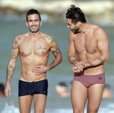 Marc Jacobs and Lorenzo Martone took a shirtless stroll on the beach.