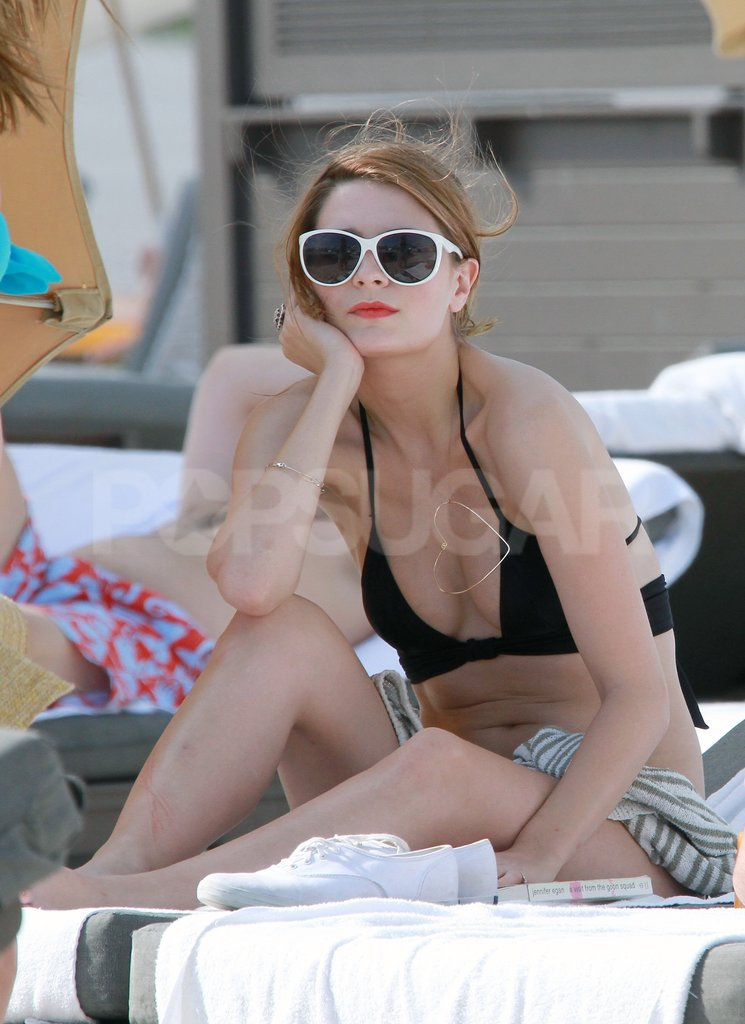Mischa Barton wore a little black bikini in Miami.