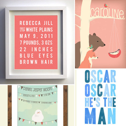 Modern Personalized Nursery Art
