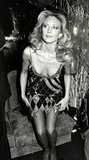 Morgan Fairchild dons a sparkly frock at Regine's New Year's Eve party in 1982.