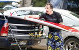 Ben Stiller stowed his surfboard in Hawaii.