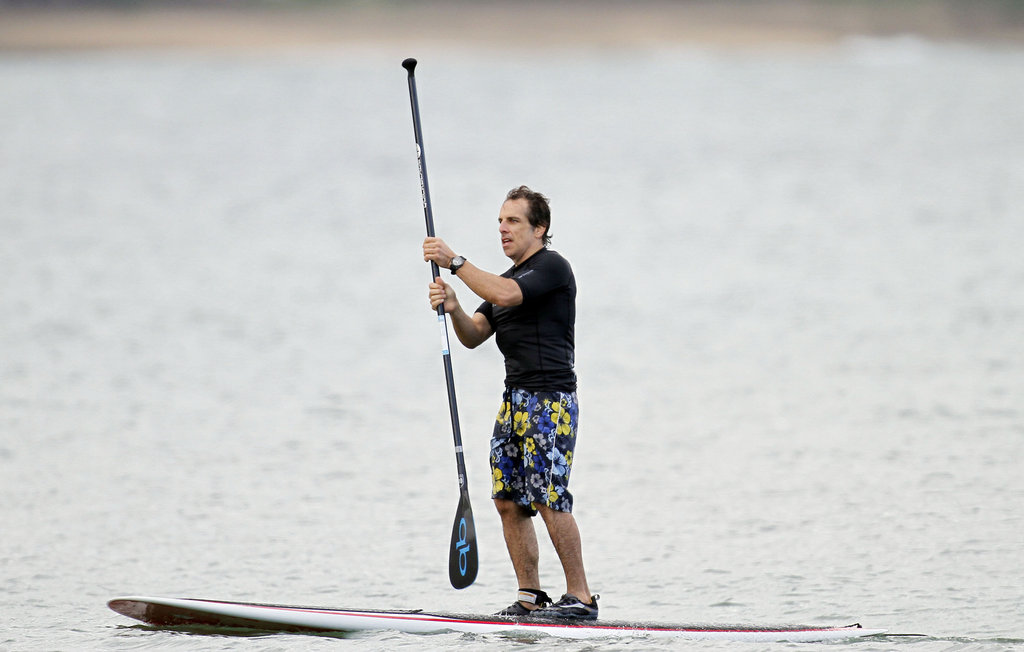 Ben Stiller surfed in Hawaii.
