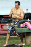 Ben Stiller was shirtless for an afternoon by the water.