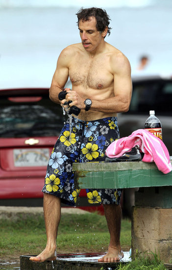 Ben Stiller Has Some Shirtless Surfing Fun in Hawaii