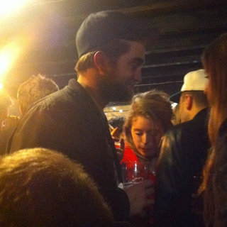 Robert Pattinson Chats With Brunette Pictures Christmas Eve