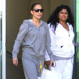 Jennifer Lopez shopped in LA with a friend.