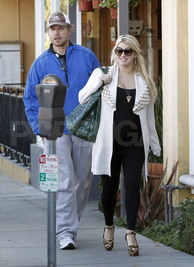 Eric Johnson and Jessica Simpson enjoyed a warm afternoon in LA together.
