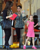 Jennifer Garner took Violet to a salon in LA.