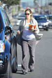 Pregnant Jennifer Garner showed off her baby belly in LA.