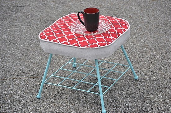 Stencil some quatrefoil patterns onto your ho-hum upholstery.  Source: Infarrantly Creative