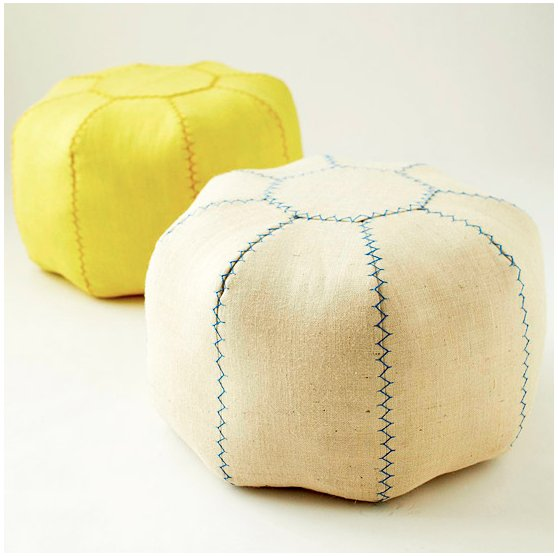 Head to Better Home and Gardens to learn how to stitch up these super-cute linen poufs. Source: Better Homes and Gardens