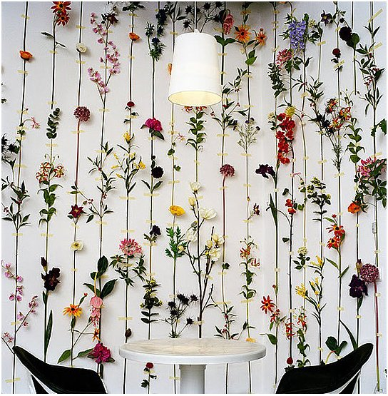 Craft helps you to create your own three-dimensional flower wallpaper, inspired by the flower wallpaper from Swedish design group Front. Source: Make: Craft