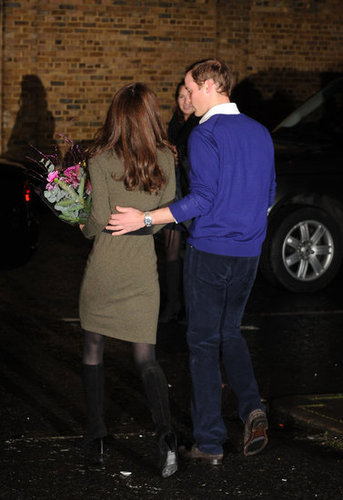 Prince William helped Kate back to the car following a 2011 holiday visit to Centrepoint charity.