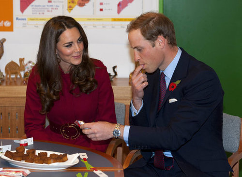In 2011, Kate gave Prince William a funny look as he sampled some peanut paste at a UNICEF center in Copenhagen.