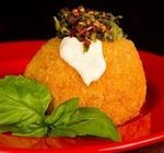 Arancino Con Spinaci