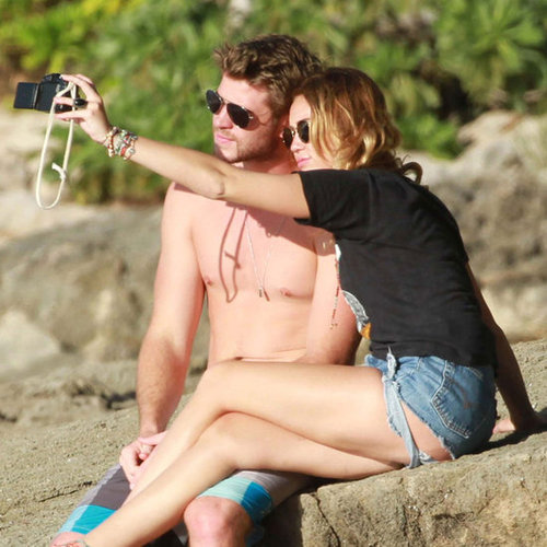 Shirtless Liam Hemsworth Pictures With Miley Cyrus in Hawaii