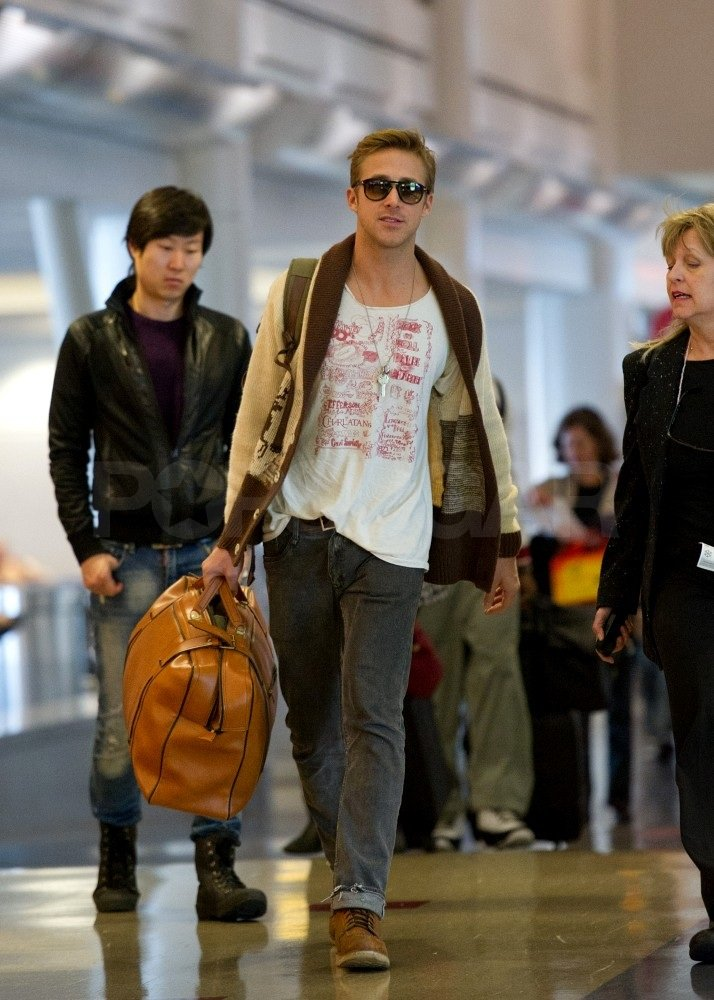 Ryan carried his bags through LAX.