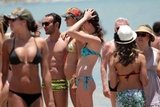 Alessandra hung out with friends in Brazil.