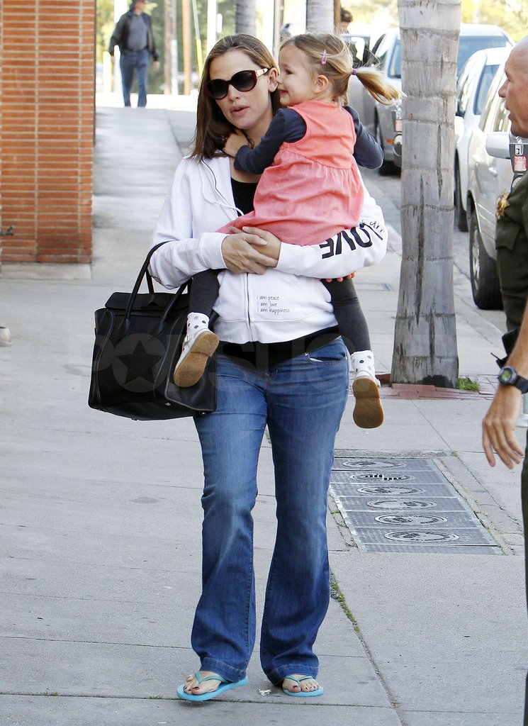 Seraphina Affleck and Jennifer Garner headed to a nail salon.