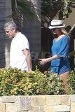 Stacy Keibler and George Clooney were out to catch some rays in Mexico.