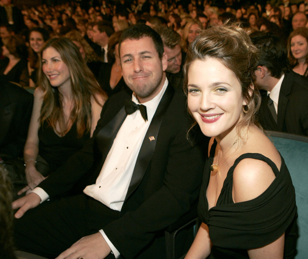 Adam Sandler and Drew Barrymore caught up during the 2005 show.