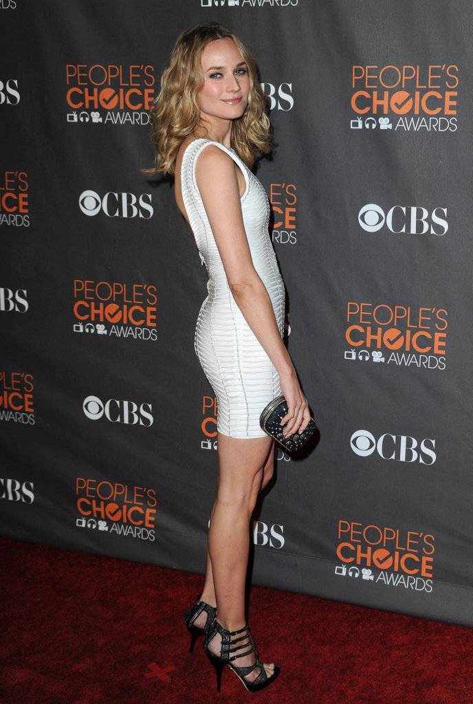 Diane Kruger donned a white Hérve Legér mini in 2010.