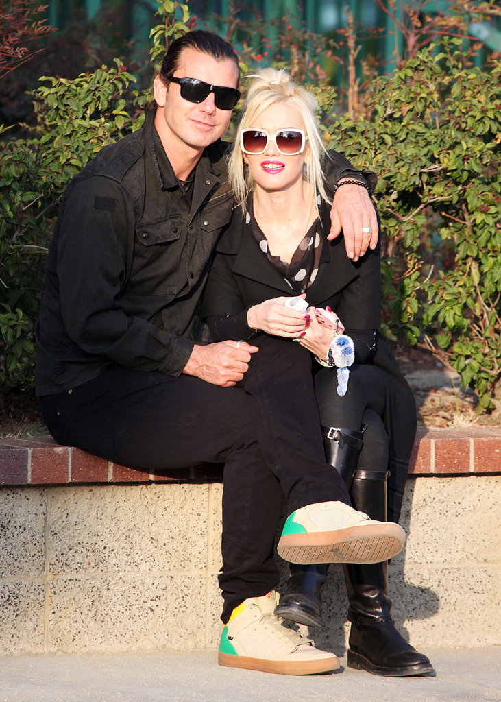 Gwen Stefani and Gavin Rossdale sat close together in LA in January 2012.