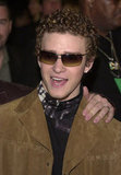 Justin Timberlake wore sunglasses on the red carpet in 2001.