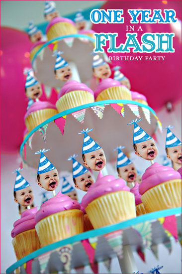 First Birthday Custom Cupcake Toppers